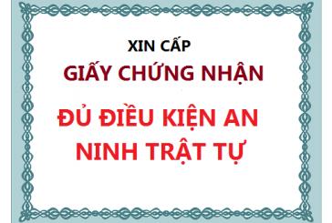 Dịch vụ cấp phép an ninh trật tự tại Thanh Hóa