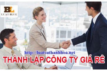 Dịch vụ thành lập công ty tại Thanh Hóa