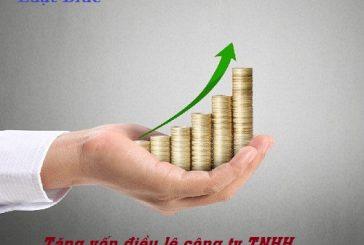 Thủ tục tăng vốn điều lệ công ty TNHH tại Thanh Hóa