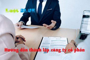 Hướng dẫn thủ tục thành lập công ty cổ phần tại Thanh Hóa năm 2018
